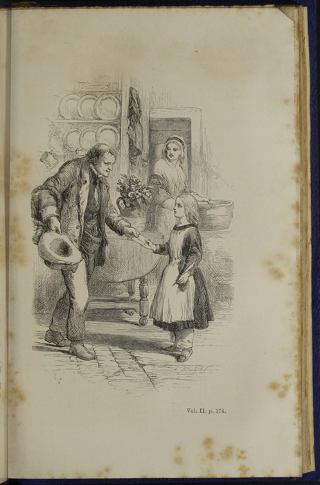 "Illustration on Page 174b of Volume 2 of the 1853 James Nisbet, Hamilton, Adams & Co. ""New Edition"" Reprint Depicting Ellen Helping Anthony Fox"