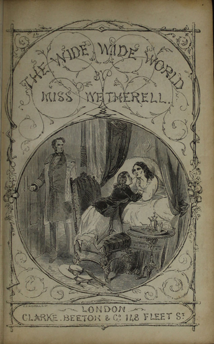 Title Page Vignette to the[1853] Clarke, Beeton, & Co. Reprint, Version 1 Depicting Ellen Saying Goodbye to Mamma