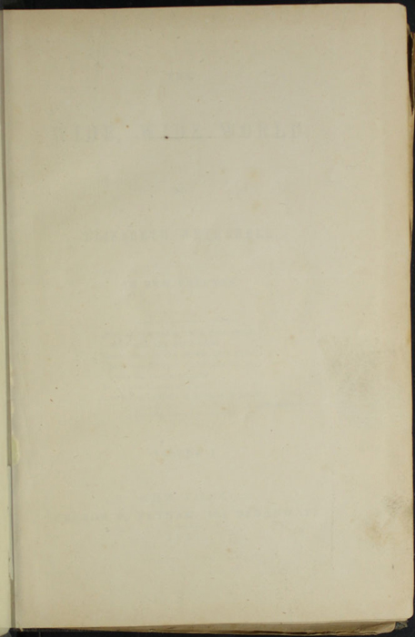 Recto of Front Flyleaf of Volume 1 of the 1851 George P. Putnam First Edition, Version 3