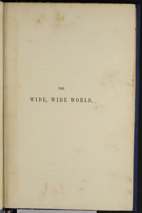 "Half-Title Page to Volume 1 of the 1852 James Nisbet, Sampson Low, Hamilton, Adams & Co. ""Second Edition"" Reprint"