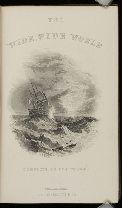 "Title Page Vignette to the 1871 J. B. Lippincott & Co. ""New Edition"" Reprint Depicting a Ship at Sea"