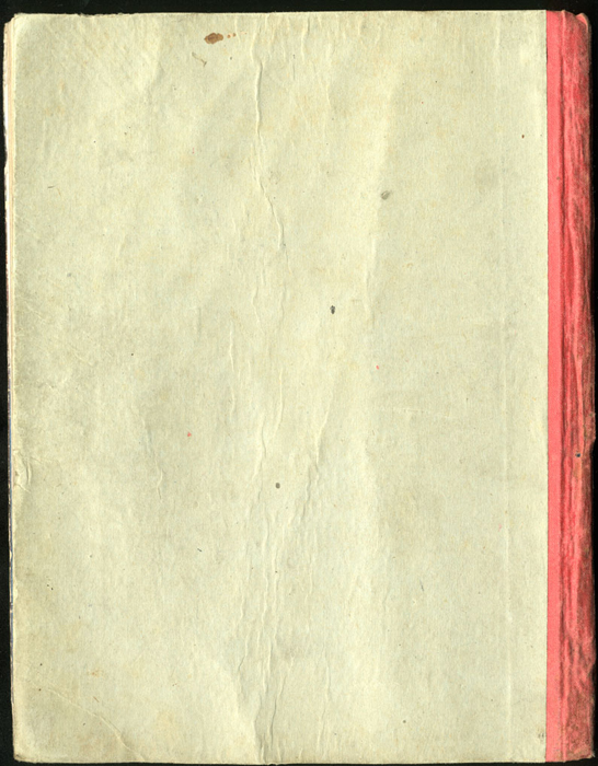 "Back Cover of the [1918] Thomas Nelson & Sons, Ltd. ""Abridged Edition"" Reprint"