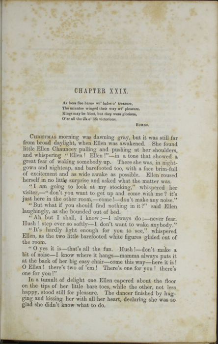 First Page of Text in Volume 2 of the 1851 George P. Putnam First Edition, Version 3