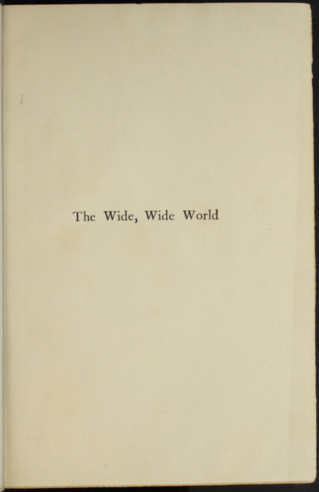 Half-Title Page to the [1907] Grosset & Dunlap Reprint, Version 1