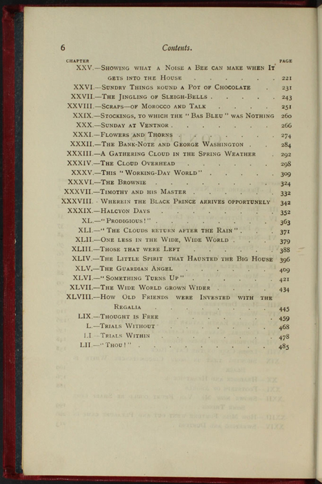 """Second Page of the Table of Contents for the [1902] Ward, Lock, & Co., Ltd. """"Complete Edition"""" Reprint"""