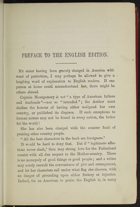 First Page of the Preface to [1891] James Nisbet & Co. Reprint