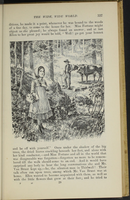 "Illustration on Page 337 of the 1892 J. B. Lippincott Co. ""New Edition"" Reprint Depicting Ellen in the Woods with Mr. Van Brunt"