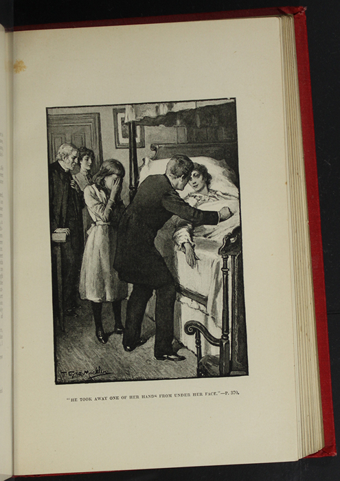 "Illustration on Page 368b of the [1896] Walter Scott, Ltd. ""Complete Edition"" Reprint Depicting Ellen, Margery, and the Humphreys Grieving at Alice's Deathbed"