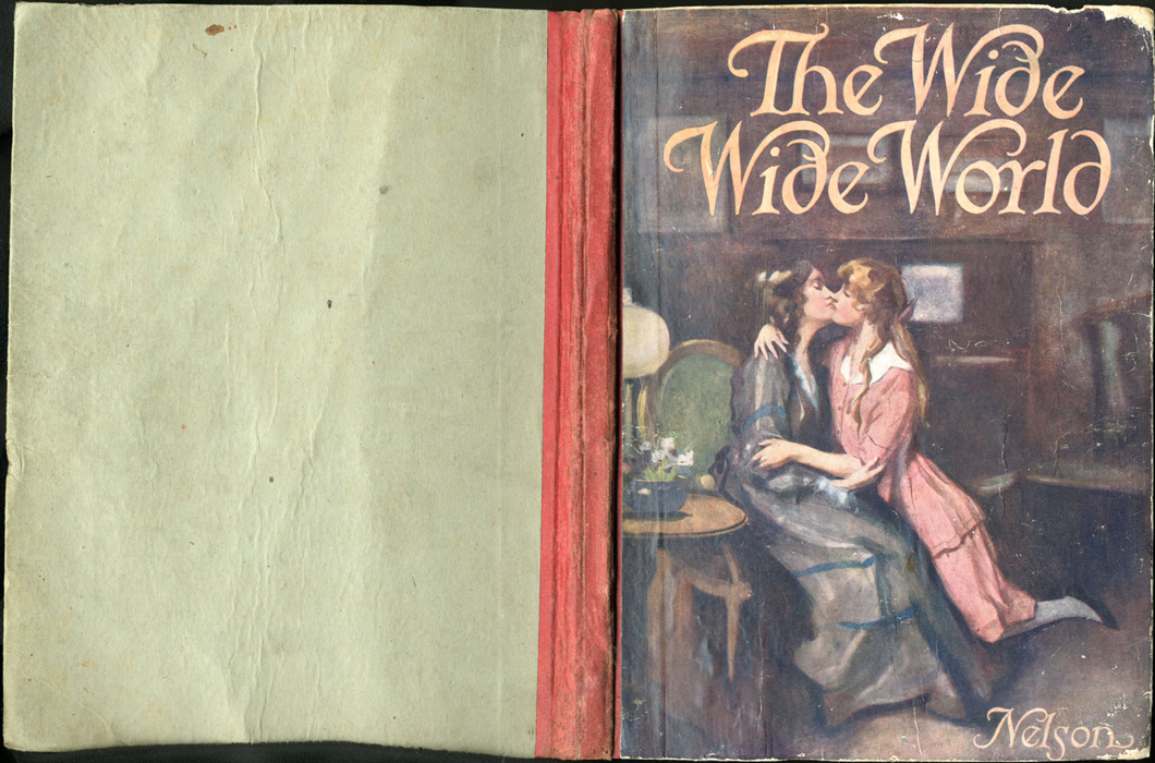 Full Cover of the [1918] Thomas Nelson & Sons, Ltd. Abridged Reprint Depicting a Kiss and Embrace Between Ellen and Alice