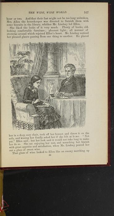 "Illustration on Page 517 of the 1903 J.B. Lippincott Co. ""New Edition"" Reprint Depicting Ellen Sharing Tea with Mr. Lindsay in Edinburgh"