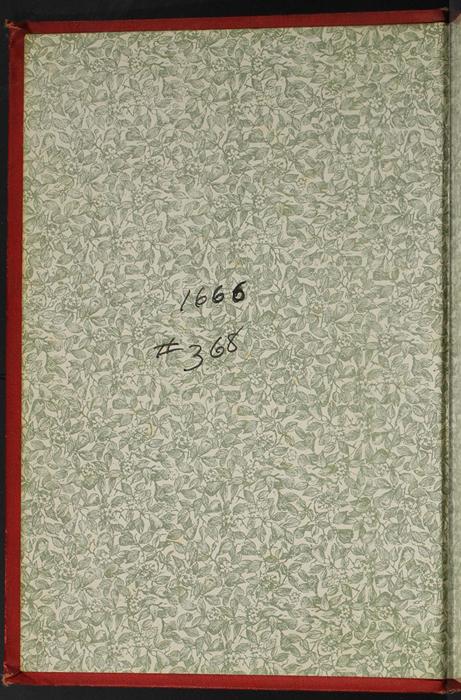 Front Pastedown of the [1896] Walter Scott, Ltd. Reprint