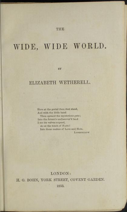Title Page to the 1853 H. G. Bohn Reprint, Version 1
