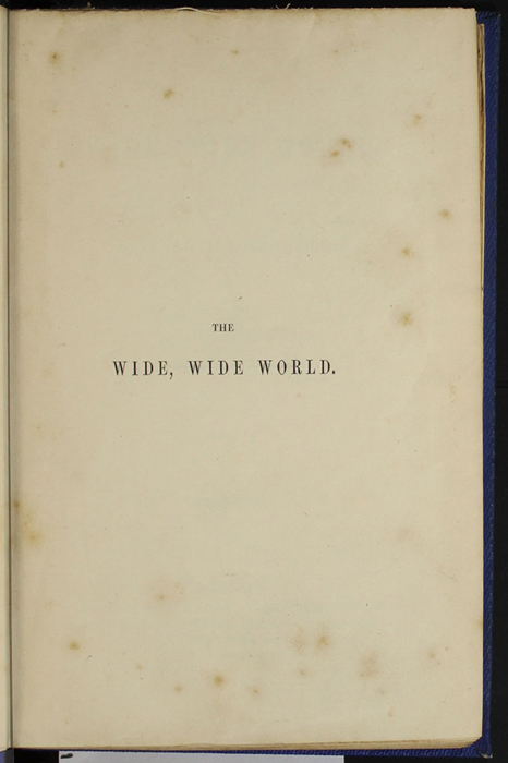 "Half-Title Page to Volume 2 of the 1852 James Nisbet, Sampson Low, Hamilton, Adams & Co. ""Second Edition"" Reprint"