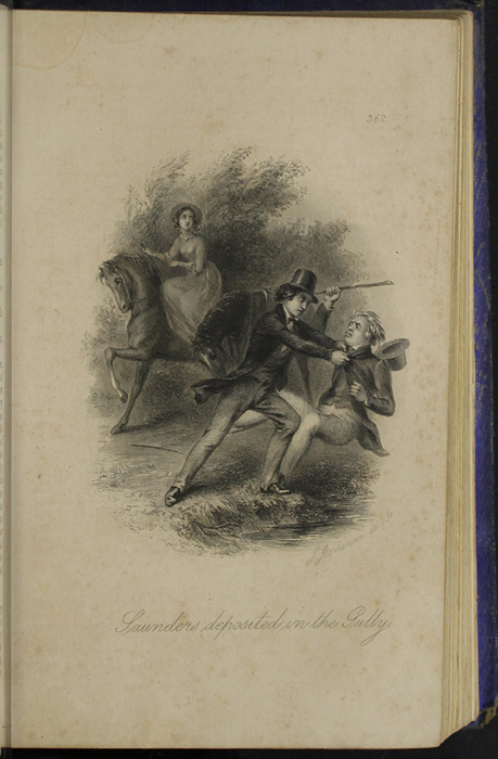 Illustration on Page 362B of the 1853 H. G. Bohn Reprint, Version 1 Depicting the Horse Whipping Scene