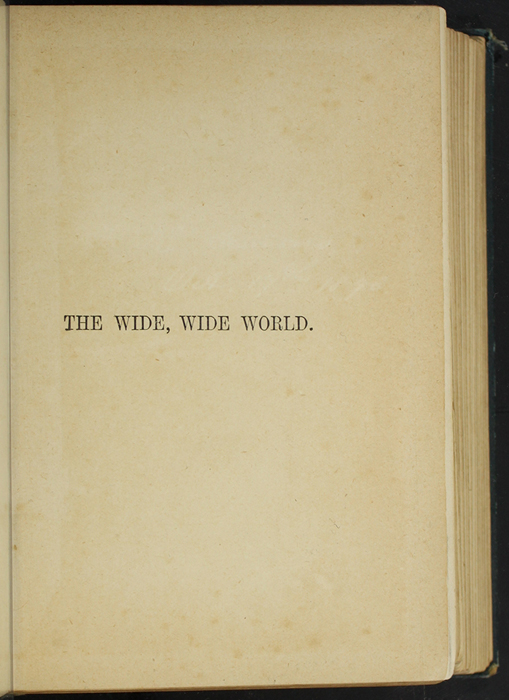 Half-Title Page to [1893] James Nisbet & Co. Reprint, Version 1