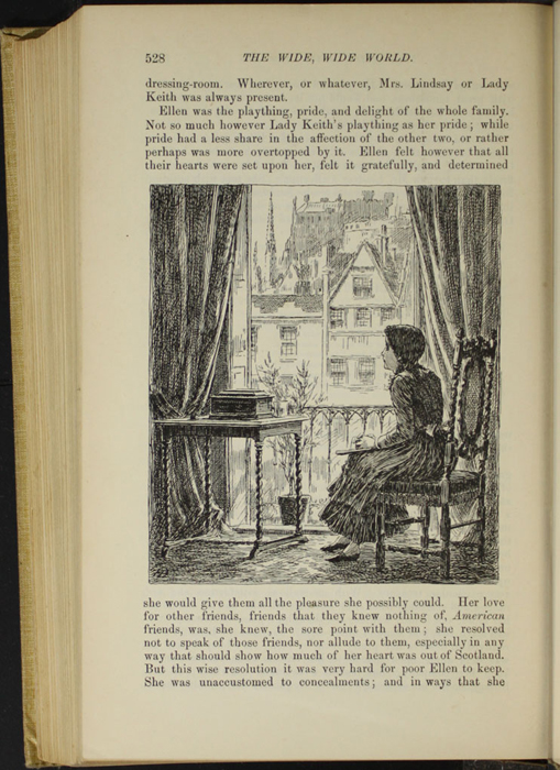 "Illustration on Page 528 of the 1892 J.B. Lippincott Co. ""New Edition"" Reprint Depicting Ellen Missing Those at Home"