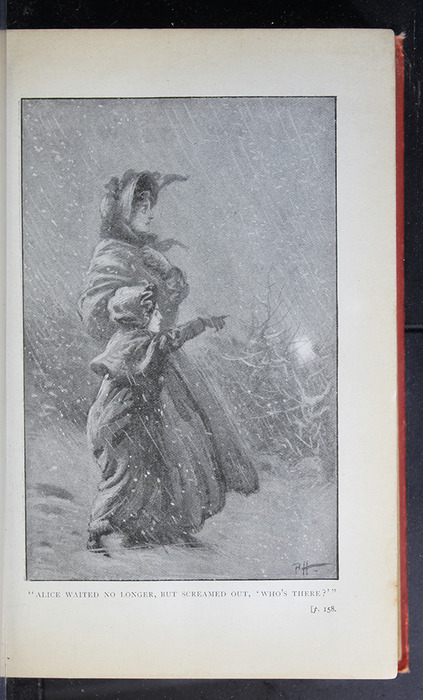 "Illustration on Page 158a of the [1896] S. W. Partridge & Co. ""Marigold Series"" Reprint Depicting the Snow Storm"