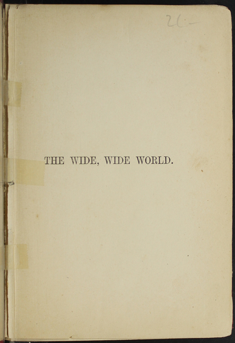 Half-Title Page to [1891] James Nisbet & Co. Reprint