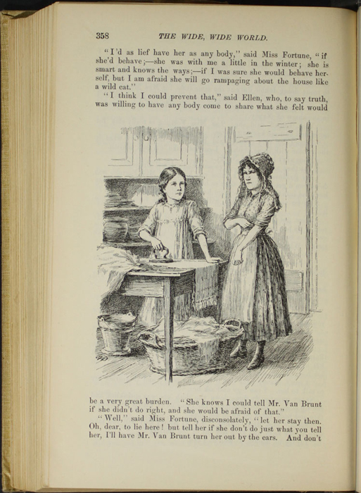 "Illustration on Page 358 of the 1892 J. B. Lippincott Co. ""New Edition"" Reprint Depicting Ellen Ironing"