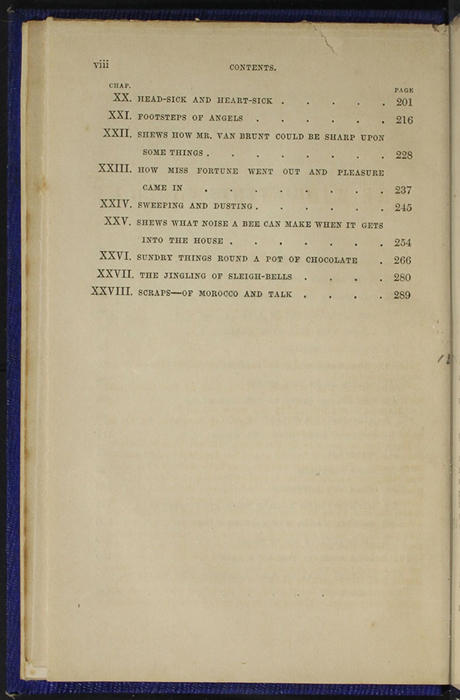 "Second Page of the Table of Contents for 1853 James Nisbet, Hamilton, Adams & Co. ""New Edition"" Reprint"