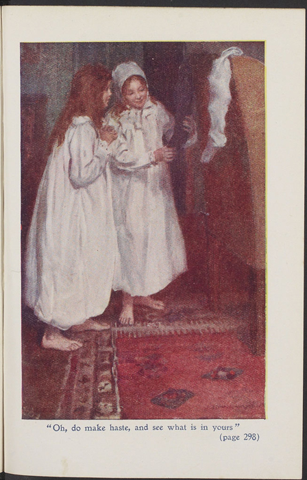 Full-Color Plate on Page 288 of the [1923] T. Nelson & Sons, Ltd., Reprint Depicting Ellen and Ellen Chauncey on Christmas Morning