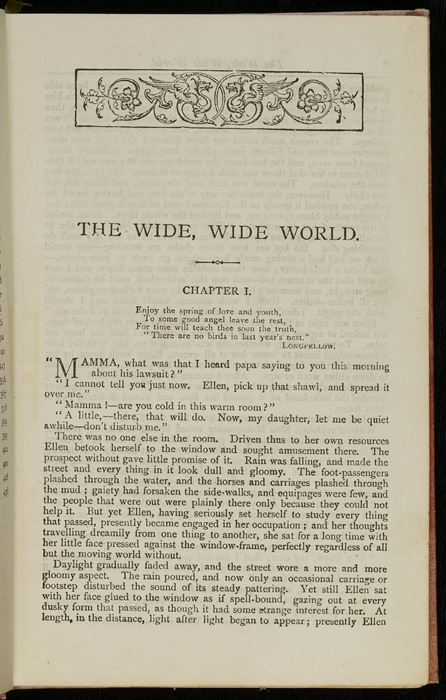 """First Page of Text in the [1882] Ward, Lock & Co. """"Lily Series, Complete Edition"""" Reprint"""