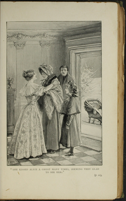Illustration on Page 220a of the [1896] S.W. Partridge & Co. Reprint Depicting Ellen, Alice, and John Arriving at the Marshmans'