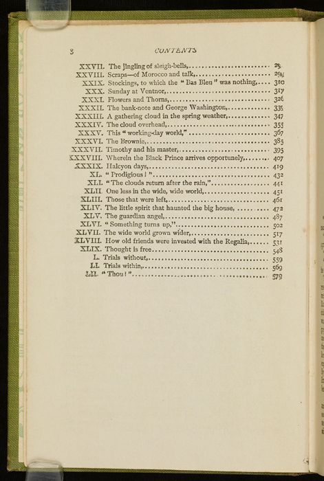 Second Page of the Table of Contents for the [1915] M. A. Donohue & Co. Reprint