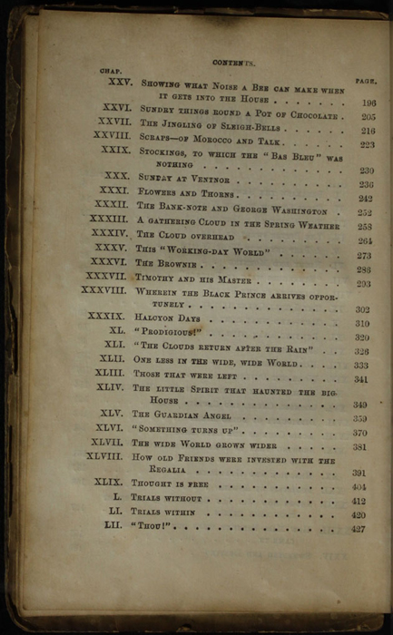 Second Page of the Table of Contents for the [1853] Clarke, Beeton, & Co. Reprint, Version 1