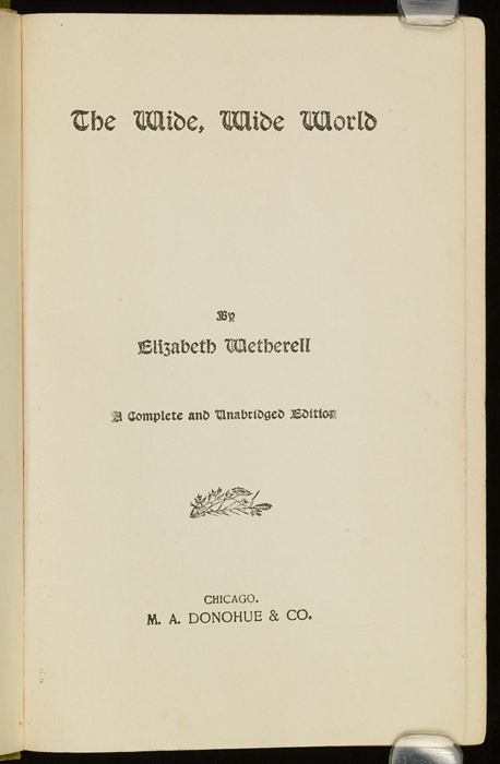 Title Page to the [1915] M. A. Donohue & Co. Reprint