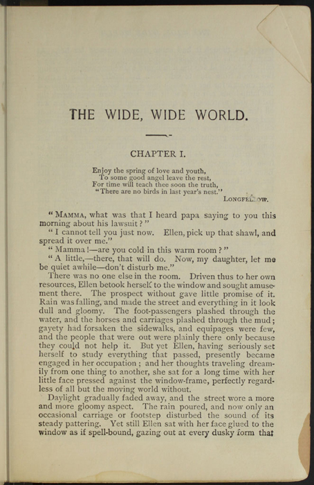 First Page of Text in the [1906] Thomas Y. Crowell & Co. Reprint