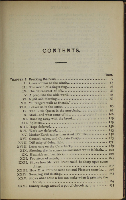 "First Page of the Table of Contents of the [1894] A. L. Burt Co. ""Burt's Library of the World's Best Books"" Reprint"