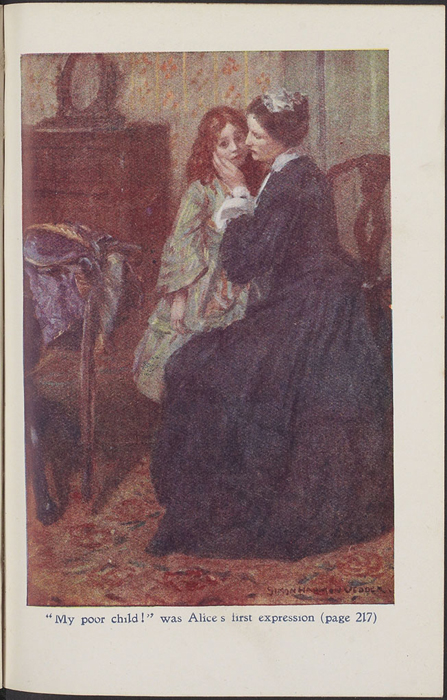 Full-Color Plate on Page 192 of the [1923] T. Nelson & Sons, Ltd., Reprint Depicting Alice Comforting Ellen After the Loss of Her Letter