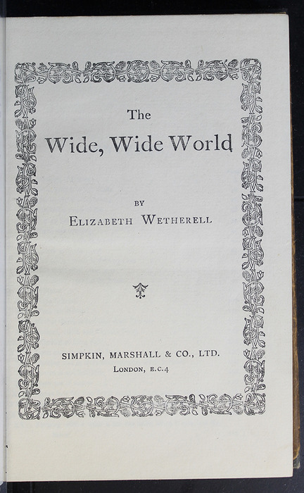 """Title Page of the [1896] Simpkin, Marshall & Co., Ltd. """"The Evergreen Library"""" Reprint"""