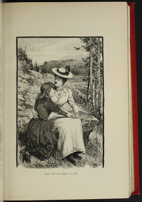 "Illustration on Page 120a of the [1896] Walter Scott, Ltd. ""Complete Edition"" Reprint Depicting Ellen and Alice on the Cat's Back"