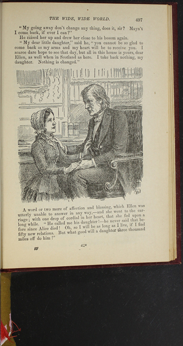 """Illustration on Page 497 of the 1903 J.B. Lippincott Co. """"New Edition"""" Reprint Depicting Ellen Saying Goodbye to Mr. Humphreys"""