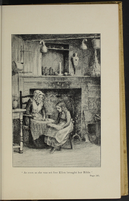 "Illustration on Page 244b of the 1892 J.B. Lippincott Co. ""New Edition"" Reprint Depicting Ellen Reading to Grandma"