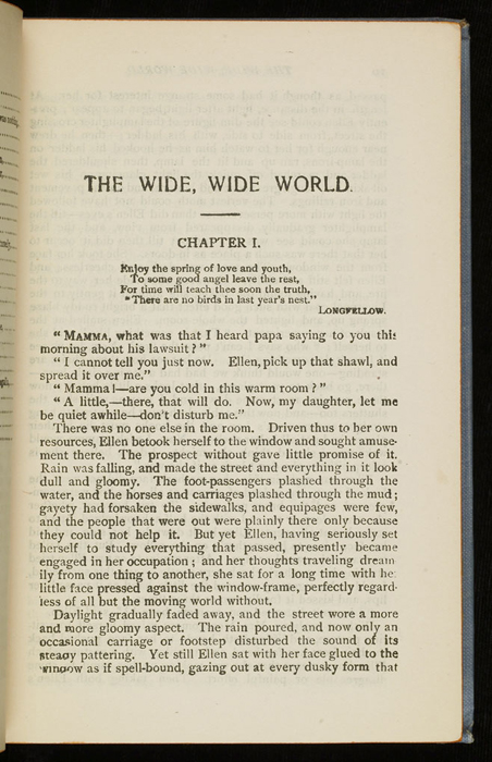 """First Page of Text in the [1902] M. A. Donohue & Co. """"Snug Corner Series"""" Reprint"""