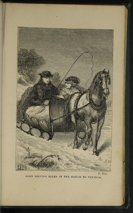 Illustration on Page 314a of the [1879] Milner & Sowerby Reprint Depicting John and Ellen on the Sleigh Ride to the Marshmans'