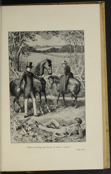 "Illustration on Page 400a of the 1892  J. B. Lippincott Co. ""New Edition"" Reprint Depicting the Horse Whipping"