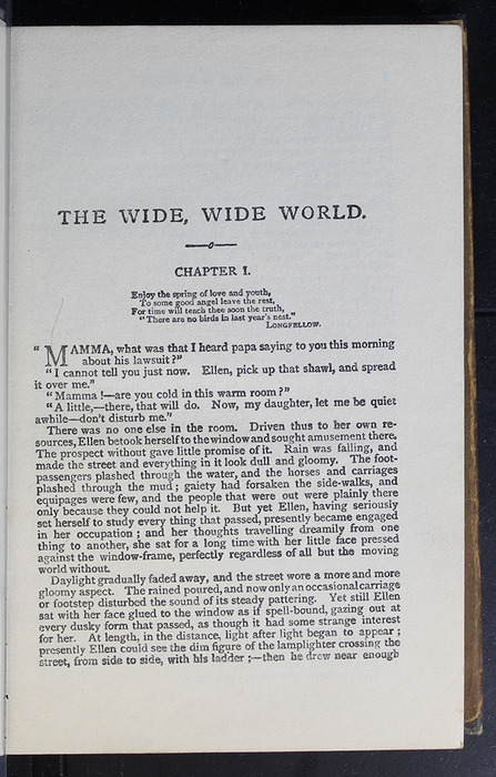 """First Page of Text in the [1896] Simpkin, Marshall & Co., Ltd. """"The Evergreen Library"""" Reprint"""