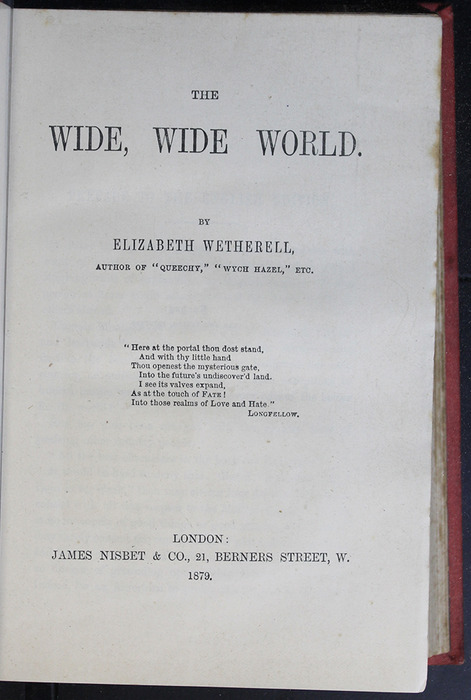 """Title Page of the 1879 James Nisbet & Co. """"Golden Ladder Series"""" Reprint"""