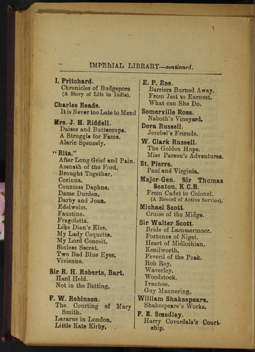 Sixth Page of Back Advertisements in the [1894] R. E. King & Co. Reprint
