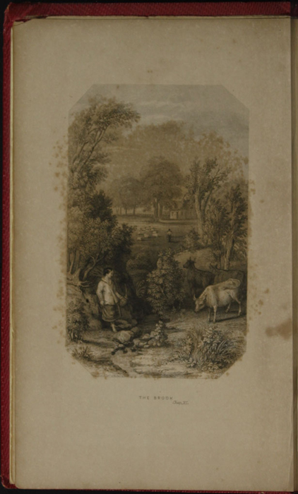 Frontispiece to the 1852 T. Nelson & Sons Reprint, Depicting the Brook