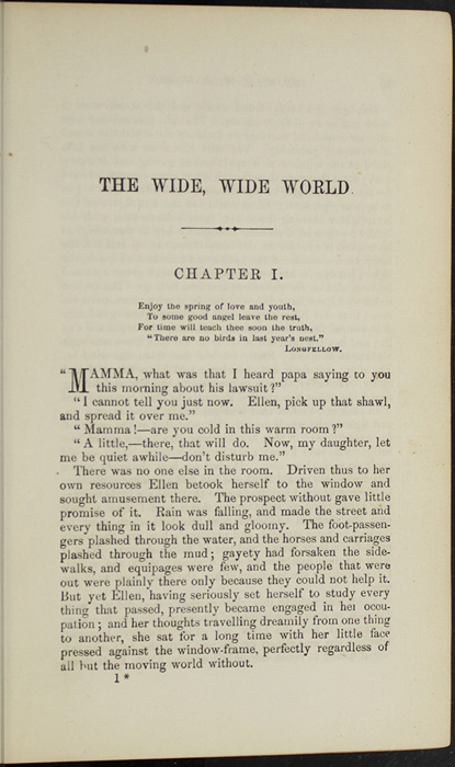 First Page of Text in Volume 1 of the 1888 J.B. Lippincott & Co. Edition