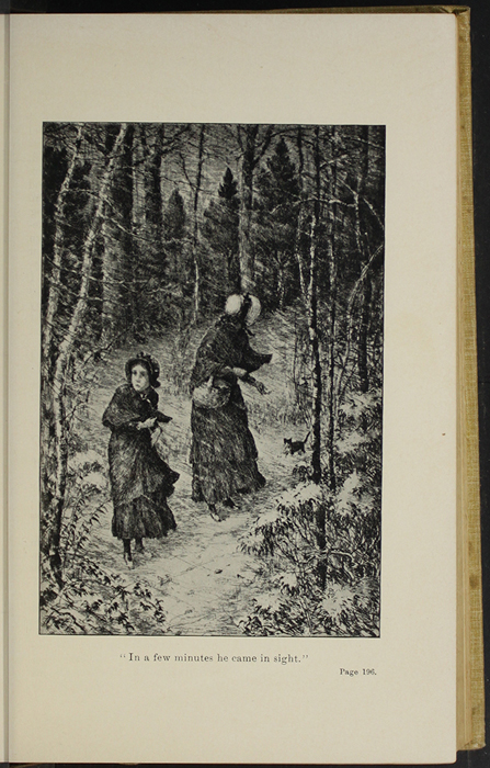 "Illustration on Page 196a of the 1892 J. B. Lippincott Co. ""New Edition"" Reprint Depicting the Snow Storm"