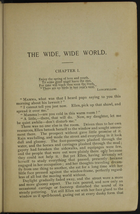 """First Page of Text in the [1895] William L. Allison Co. """"Allison's New Standard Library"""" Reprint"""