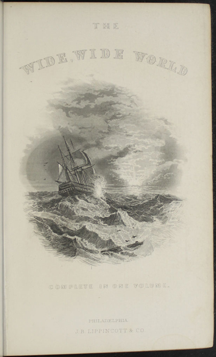 "Title Page Vignette to the 1869 J. B. Lippincott & Co. ""New Edition"" Reprint, Depicting a Ship at Sea"