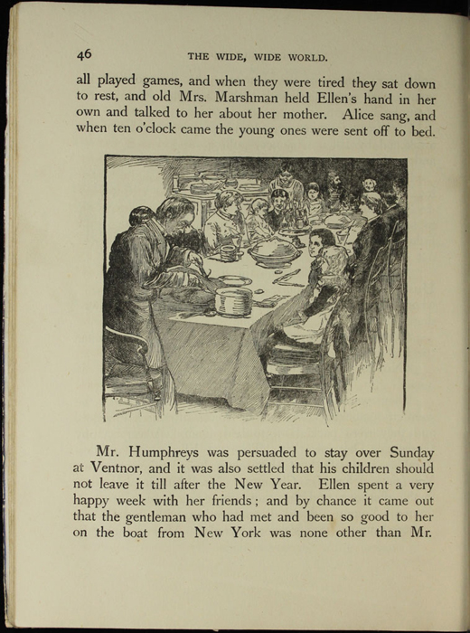 Illustration on Page 46 of the [1918] Thomas Nelson & Sons, Ltd. Abridged Reprint Depicting Christmas Dinner