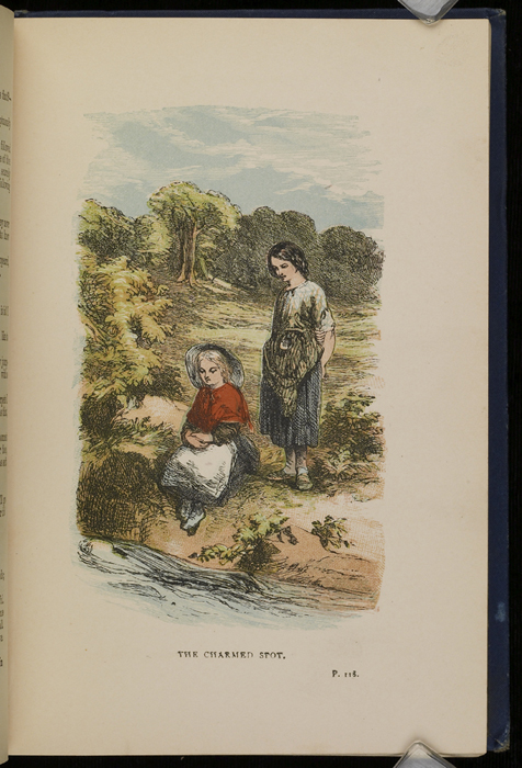 "Illustration on Page 118a of the 1886 James Nisbet & Co. ""New Edition, Golden Ladder Series"" Reprint Depicting Ellen and Nancy at the Brook"